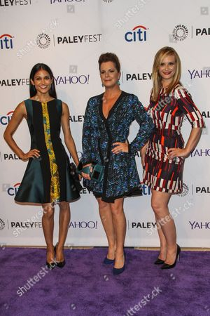 From left, Melanie Chandra, Marcia Gay Harden, and Bonnie Somerville attend the at 2015 PaleyFest Fall TV Previews at The Paley Center for Media, in Beverly Hills, Calif