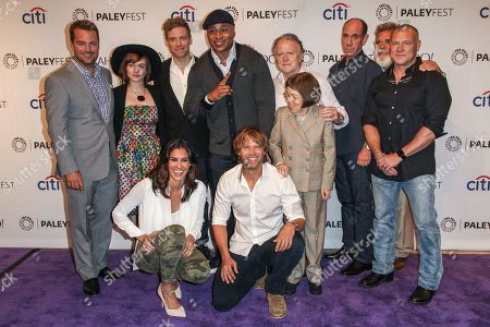 From left, (back row) Chris O'Donnell, Renée Felice Smith, Barrett Foa, LL Cool J, Shane Brennan, Miguel Ferrer, John P. Kousakis, R. Scott Gemmill, (front row) Daniela Ruah, Eric Christian Olsen, Linda Hunt attend the at 2015 PaleyFest Fall TV Previews at The Paley Center for Media, in Beverly Hills, Calif. (Photo by Paul A. Hebert/Invision/AP)From left, (back row) Chris O'Donnell, Renée Felice Smith, Barrett Foa, LL Cool J, Shane Brennan, Miguel Ferrer, John P. Kousakis, R. Scott Gemmill, (front row) Daniela Ruah, and Eric Christian Olsen attend the at 2015 PaleyFest Fall TV Previews at The Paley Center for Media on Friday, Sept. 11, 2015, in Beverly Hills, Calif