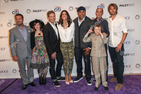 Stock Picture of From left, Chris O'Donnell, Renee Felice Smith, Barrett Foa, Daniela Ruah, LL Cool J, Miguel Ferrer, Linda Hunt, and Eric Christian Olsen attend the at 2015 PaleyFest Fall TV Previews at The Paley Center for Media, in Beverly Hills, Calif