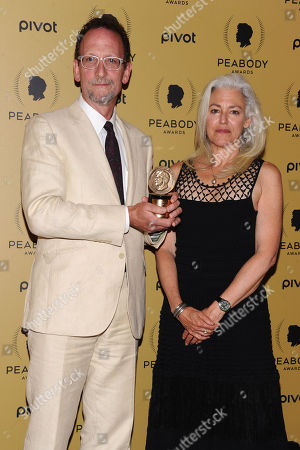 Peabody Award Recipients David Heilbroner, left, and Kate Davis attend the 74th Annual Peabody Awards at Cipriani Wall Street, in New York