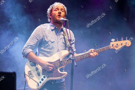 John Stirratt of Wilco seen at the 2015 Pitchfork Music Festival, on in Chicago