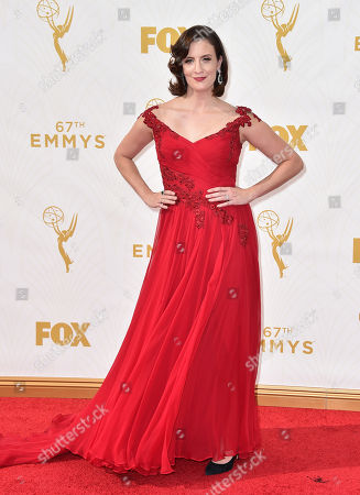 Julie Lake arrives at the 67th Primetime Emmy Awards, at the Microsoft Theater in Los Angeles