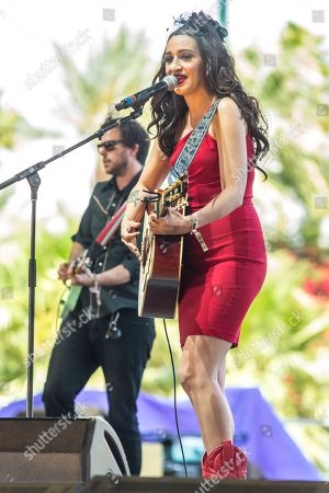 Stock Picture of Lindi Ortega performs on stage during the 2015 Stagecoach Festival at the EmpireClub, in Indio, Calif