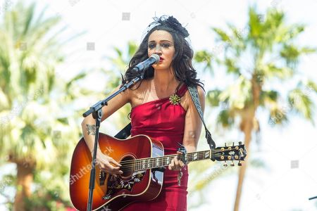 Stock Photo of Lindi Ortega performs on stage during the 2015 Stagecoach Festival at the EmpireClub, in Indio, Calif