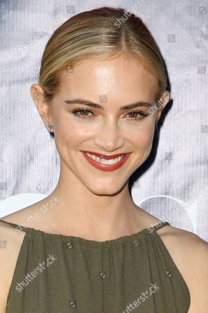 Emily Wickersham arrives at the Summer TCA CBS, CW, Showtime Party at Pacific Design Center, in West Hollywood, Calif