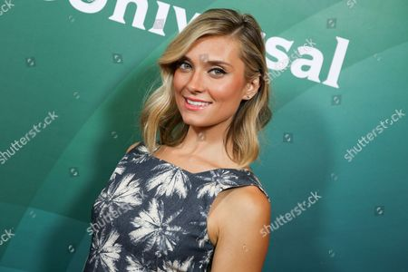 Spencer Grammer arrives at the NBCUniversal Television Critics Association Summer Tour at the Beverly Hilton Hotel, in Beverly Hills, Calif