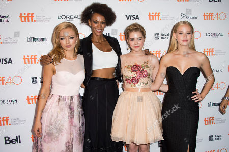 "Stock Photo of Francesca Eastwood, Judith Shekoni, Gatlin Green and Danika Yarosh attend a premiere for ""Heroes Reborn"" on day 6 of the Toronto International Film Festival at The Winter Garden Theatre, in Toronto"