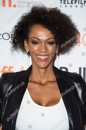 "Stock Image of Judith Shekoni attends a premiere for ""Heroes Reborn"" on day 6 of the Toronto International Film Festival at The Winter Garden Theatre, in Toronto"