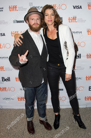 "Henry Zebrowski and Rya Kihlstedt attend a premiere for ""Heroes Reborn"" on day 6 of the Toronto International Film Festival at The Winter Garden Theatre, in Toronto"