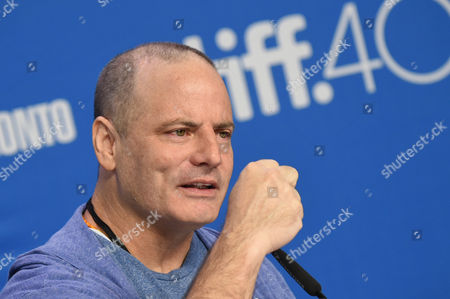 "Director Dito Montiel attends a press conference for ""Man Down"" on day 6 of the Toronto International Film Festival at the TIFF Bell Lightbox, in Toronto"
