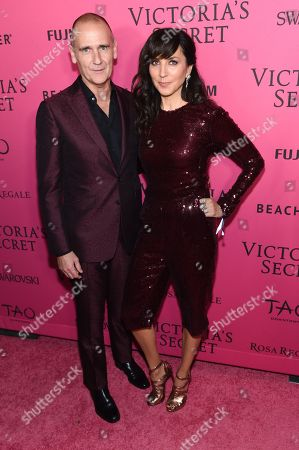 Nigel Curtiss, left, and Monica Mitro attend the 2015 Victoria's Secret Fashion Show After Party at Tao, in New York. The Victoriaâ?™s Secret Fashion Show will air on CBS on Tuesday, December 8th at 10pm EST