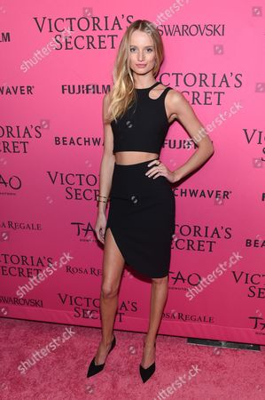 Model Maud Welzen attends the 2015 Victoria's Secret Fashion Show After Party at Tao, in New York. The Victoria's Secret Fashion Show will air on CBS on Tuesday, December 8th at 10pm EST