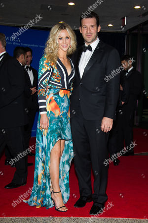 Candice Crawford and Tony Romo attend the 2015 White House Correspondents' Association Dinner at the Washington Hilton Hotel, in Washington