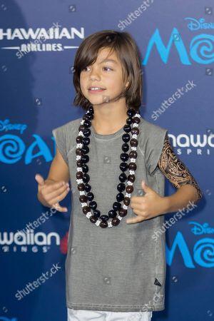 "Stock Photo of Malachi Barton arrives at the 2016 AFI Fest - ""Moana"" World Premiere at El Capitan Theatre, in Los Angeles"