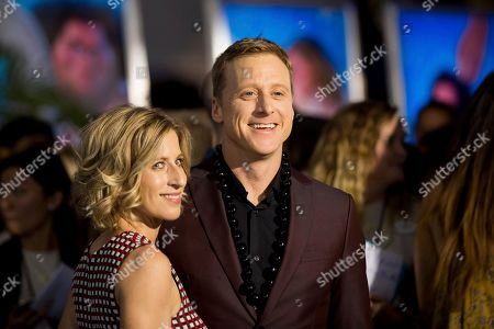 "Alan Tudyk, right, and Charissa Barton arrive at the 2016 AFI Fest - ""Moana"" World Premiere at El Capitan Theatre, in Los Angeles"