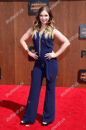 Olivia Lane arrives at the American Country Countdown Awards at the Forum on in Inglewood, Calif