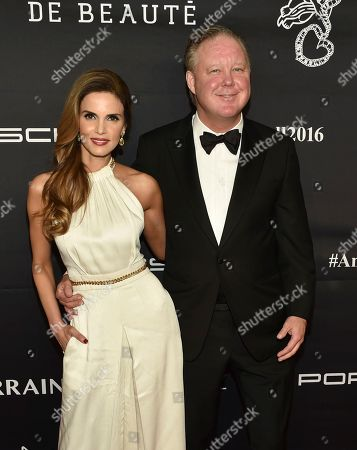 CEO and Chairman of NASCAR Brian France and wife Amy France attend the 2016 Angel Ball, benefitting Gabrielle's Angel Foundation for Cancer Research, at Cipriani Wall Street, in New York