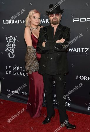 Kaya Stewart, left, and Dave Stewart attend the Angel Ball benefitting Gabrielle's Angel Foundation for Cancer Research at Cipriani Wall Street, in New York
