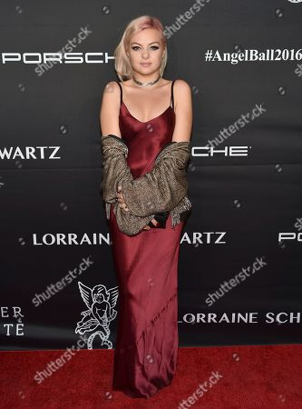 Kaya Stewart attends the Angel Ball benefitting Gabrielle's Angel Foundation for Cancer Research at Cipriani Wall Street, in New York
