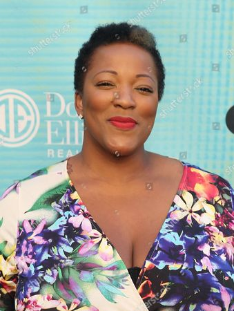 Frenchie Davis attends Backstage at the Geffen, in Los Angeles