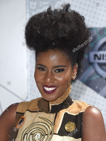 Stock Photo of MzVee arrives at the BET Awards at the Microsoft Theater, in Los Angeles