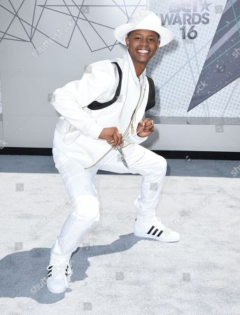 Silento arrives at the BET Awards at the Microsoft Theater, in Los Angeles