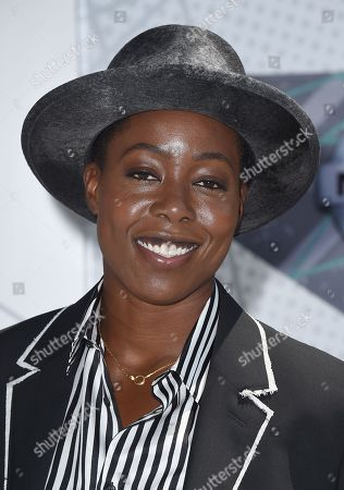 Stock Photo of Tish Hyman arrives at the BET Awards at the Microsoft Theater, in Los Angeles