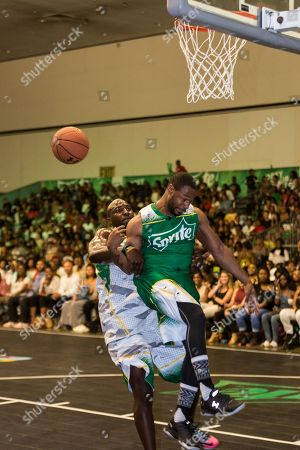 Stock Picture of Marcellus Wiley plays at the BET Experience - Sprite celebrity basketball game held at the Los Angeles Convention Center on