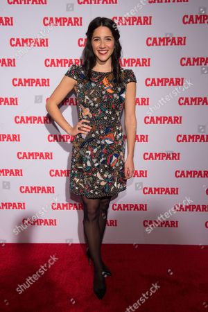 Stock Image of Actress Samantha Massell attends the 2016 Campari Calendar unveiling celebration at the Standard Hotel, in New York