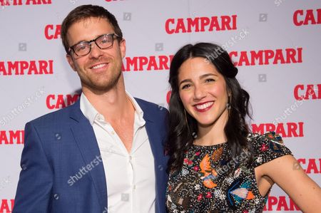 Actors Sean Kleier, left, and Samantha Massell attend the 2016 Campari Calendar unveiling celebration at the Standard Hotel, in New York