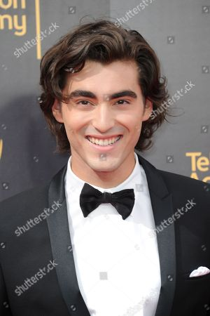 Blake Michael arrives at night one of the Creative Arts Emmy Awards at the Microsoft Theater, in Los Angeles