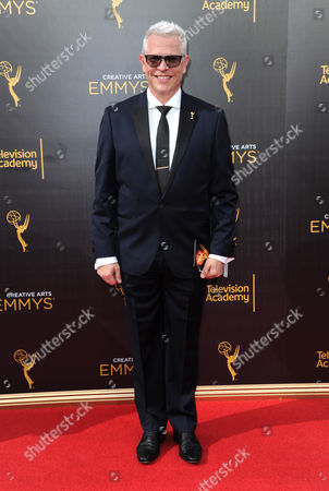 Monte C. Haught arrives at night one of the Creative Arts Emmy Awards at the Microsoft Theater, in Los Angeles