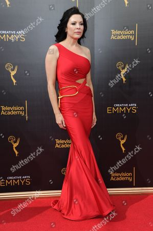 Christa Campbell arrives at night two of the Creative Arts Emmy Awards at the Microsoft Theater, in Los Angeles
