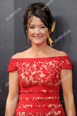 Lisa Waltz arrives at night two of the Creative Arts Emmy Awards at the Microsoft Theater, in Los Angeles