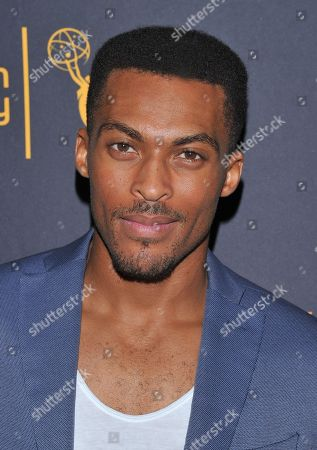Stock Image of Shamar Sanders arrives at the Dynamic & Diverse Nominee Reception presented by the Television Academy and SAG-AFTRA at the Academy's Saban Media Center, in the NoHo Arts District in Los Angeles