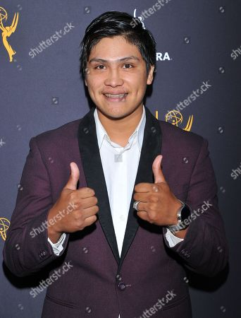 Johnny Ortiz arrives at the Dynamic & Diverse Nominee Reception presented by the Television Academy and SAG-AFTRA at the Academy's Saban Media Center, in the NoHo Arts District in Los Angeles