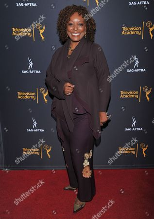 L. Scott Caldwell arrives at the Dynamic & Diverse Nominee Reception presented by the Television Academy and SAG-AFTRA at the Academy's Saban Media Center, in the NoHo Arts District in Los Angeles