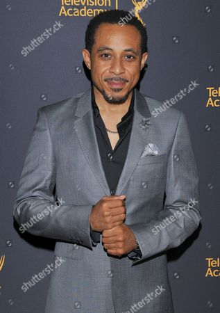 Dale Godboldo arrives at the Dynamic & Diverse Nominee Reception presented by the Television Academy and SAG-AFTRA at the Academy's Saban Media Center, in the NoHo Arts District in Los Angeles