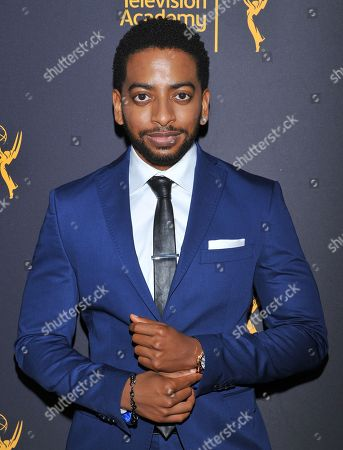 Shaun Brown arrives at the Dynamic & Diverse Nominee Reception presented by the Television Academy and SAG-AFTRA at the Academy's Saban Media Center, in the NoHo Arts District in Los Angeles