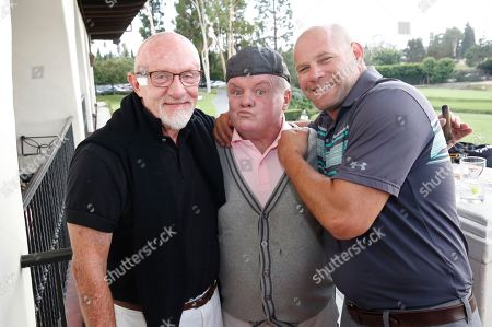 Jonathan Banks, from left, Jack McGee, and Domenick Lombardozzi attend the 17th Emmys Golf Classic presented by the Television Academy Foundation at the Wilshire Country Club, in Los Angeles
