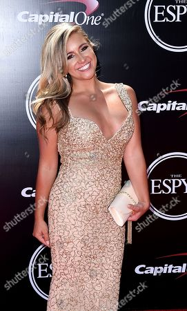Stock Photo of Professional golfer Chelsea Pezzola arrives at the ESPY Awards at the Microsoft Theater, in Los Angeles