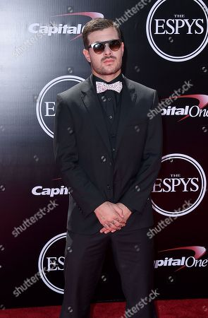 Stock Image of Professional skateboarder Pedro Barros arrives at the ESPY Awards at the Microsoft Theater, in Los Angeles