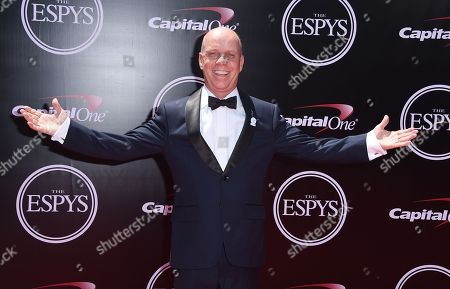 Stock Photo of Sports commentator Scott Hamilton arrives at the ESPY Awards at the Microsoft Theater, in Los Angeles