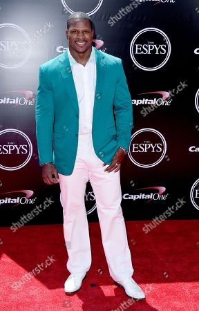 Stock Image of Former NFL player Kamerion Wimbley arrives at the ESPY Awards at the Microsoft Theater, in Los Angeles