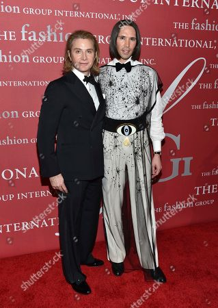 Eric Javits and Di Mondo attend The Fashion Group International's Night of Stars Gala at Cipriani Wall Street, in New York