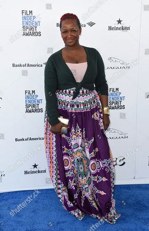 Effie Brown arrives at the Film Independent Spirit Awards, in Santa Monica, Calif