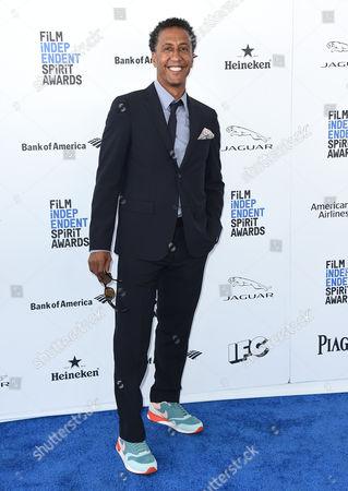 Andre Royo arrives at the Film Independent Spirit Awards, in Santa Monica, Calif
