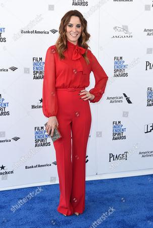 Maria Joao Bastos arrives at the Film Independent Spirit Awards, in Santa Monica, Calif
