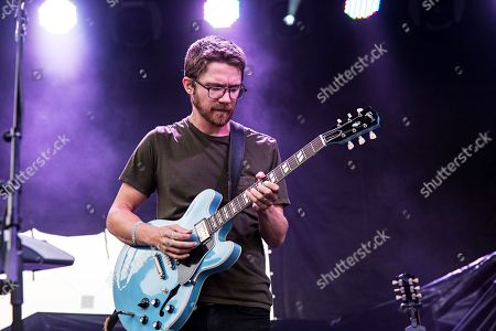 Spencer Thomson of Moon Taxi performs during day one of Forecastle Music Festival at Waterfront Park, in Louisville, Kentucky