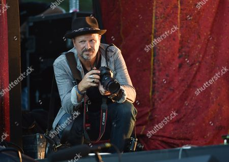 Photographer Danny Clinch shooting on stage at the 2016 Global Citizen Festival in Central Park, in New York
